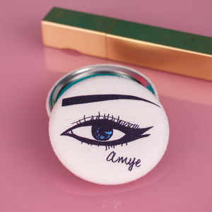 Personalised Eye Compact Mirror - wedding thank you gifts