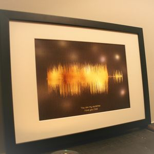 Personalised Limited Edition Sound Wave Light Box