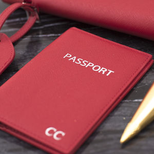 Personalised Real Leather Passport Holder