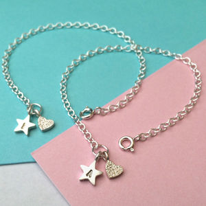 Best Friend Initial Star Bracelets