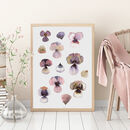 Natural Pansies Print
