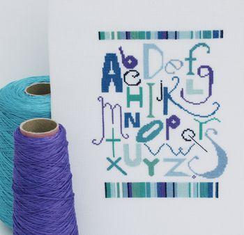 Alphabet Cross Stitch Sampler Kit