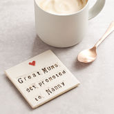 Grandparent Ceramic Coaster - mum loves