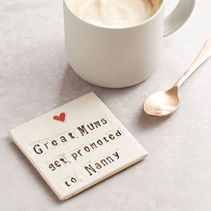 Grandparent Ceramic Coaster - gifts for him
