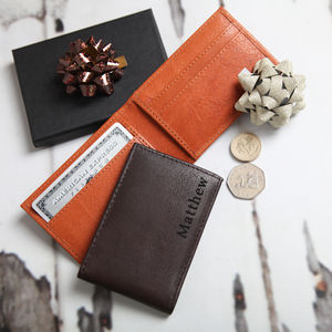 Personalised Men's Mini Leather Wallet - gifts for him