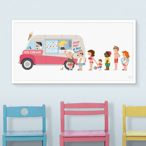 Ice Cream Van Print - canvas prints & art for children