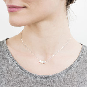 Geometric Cubes Sterling Silver Necklace