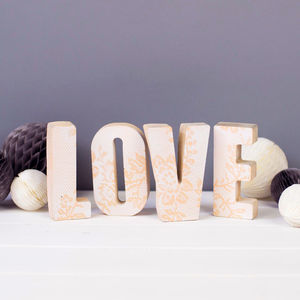 Personalised Lace Print Concrete Letters - gifts for babies