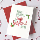 Personalised Best Friend Christmas Card