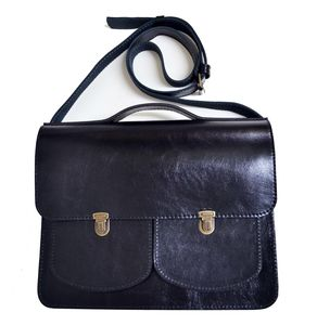 Black Laptop Satchel