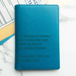 Best Stories Personalised Passport Holder