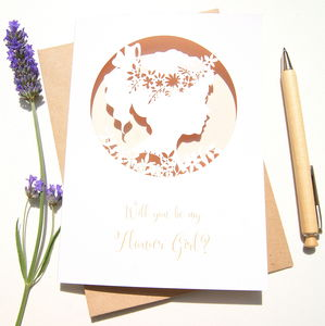 Boho Flower Girl Card
