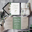 Madeira Folding Wedding Invitation