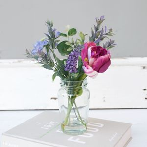 Faux Tulip And Lavender Bouquet - home accessories