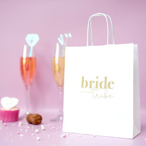 Hen Party Gift Bag | Hen Party Goody Bag - monochrome & metallic hen party