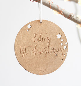Personalised First Christmas Tree Ornament - gifts for babies & children