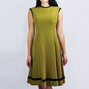Paris Dress Olive Green - fashion sale
