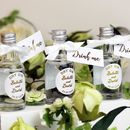 Personalised White And Gold Mini Gin Wedding Favours