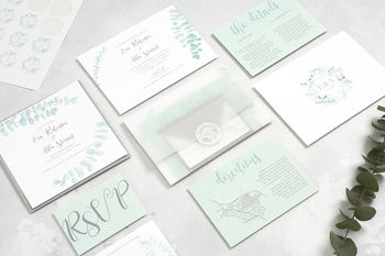 Modern Eucalyptus Wedding Stationery Collection