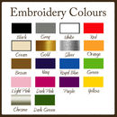 Embroidery Colours to choose from