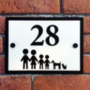 Personalised Stick Family House Number Plaque