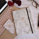 Marble Journal And Card Set 'Espresso Then Prosecco'