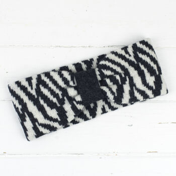 Zebra Knitted Headband