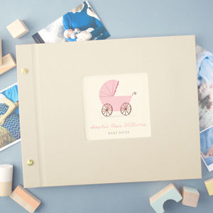 Personalised Baby Photo Album - baby shower gifts
