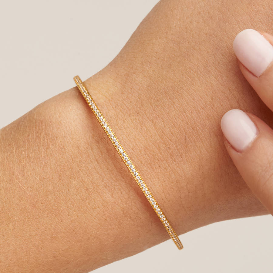 bangles ridge thin oliver plated bangle category vasco gold bracelets jewellery bonas
