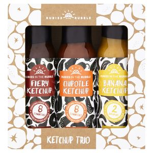 Rubies In The Rubble Ketchup Trio - sauces & seasonings