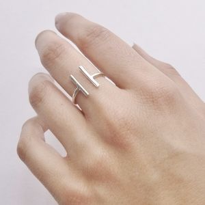 Sterling Silver Twin Bar Ring