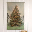 Traditional Christmas Tree Canvas Banner