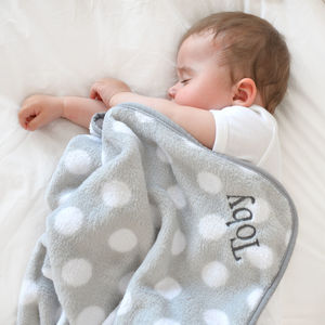 Personalised Baby's Grey And White Elephant Blanket - baby care