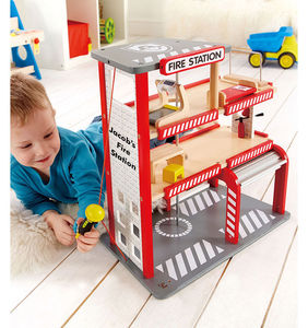 Personalised Wooden Fire Station - play scenes & sets
