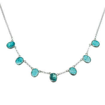 Apatite Gemstone Handmade Silver Ladies Necklace