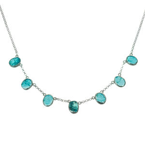 Apatite Gemstone Handmade Silver Ladies Necklace - necklaces & pendants