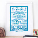 'Oh The Places You'll Go!' Dr Seuss Print