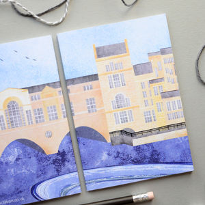 Bath Pulteney Bridge Notebook - writing