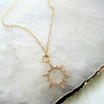 Sparkling Sun Necklace