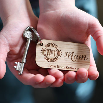 Number One Mum Personalised Keyring