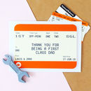 Train Ticket Personalised Father's Day Card