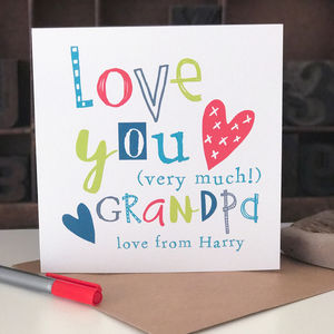 Personalised Father's Day Card For Grandpa - valentine's cards