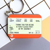 Personalised 'Thank You Teacher' Train Ticket Keyring - accessories