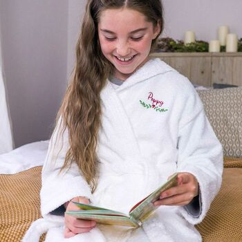 Personalised Embroidered Winter Childrens Bathrobe