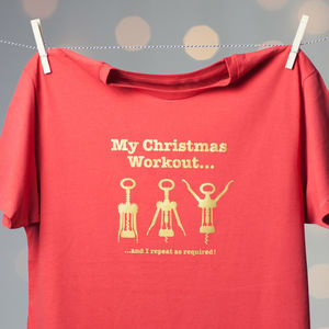 Christmas Workout T Shirt - Mens T-shirts & vests