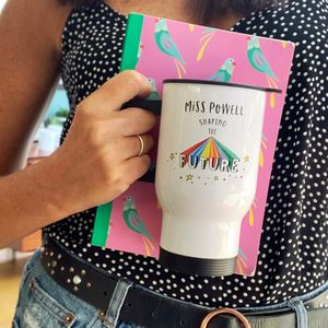 Teachers Shaping The Future Rainbow Travel Mug