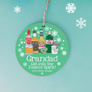 Personalised Christmas Festive Spirit Decoration