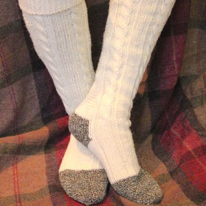 Long Cable Welly Sock