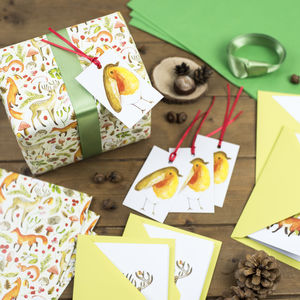 Woodland Creatures Christmas Mega Wrapping Paper Kit - cards & wrap