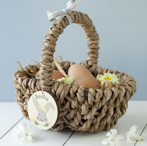Bunny Easter Hunt Basket - easter egg hunt